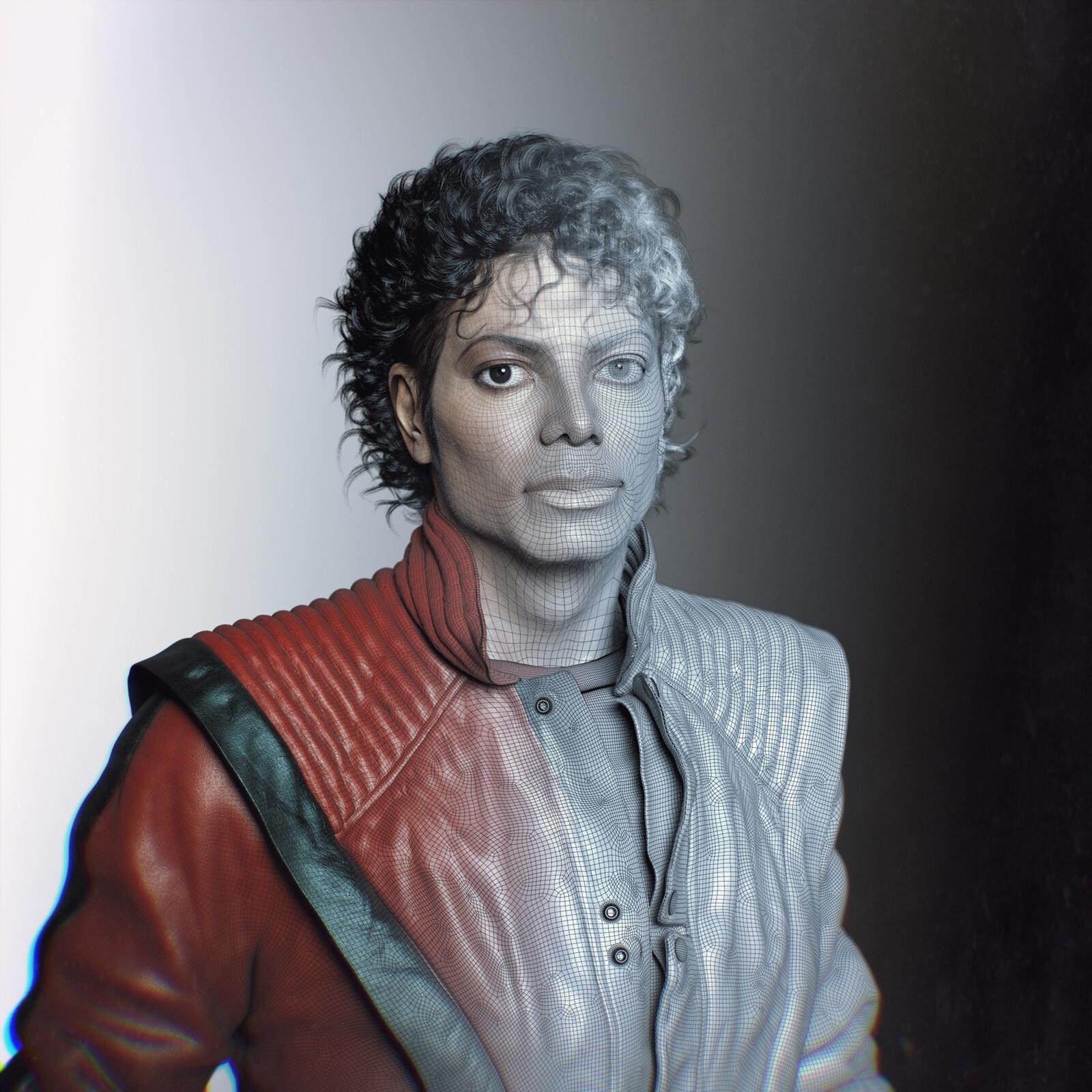 hadi karimi michael jackson 3d portrait