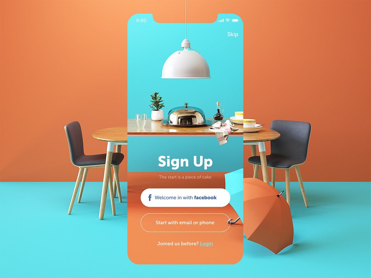 restaurant app UI copywriting tubik