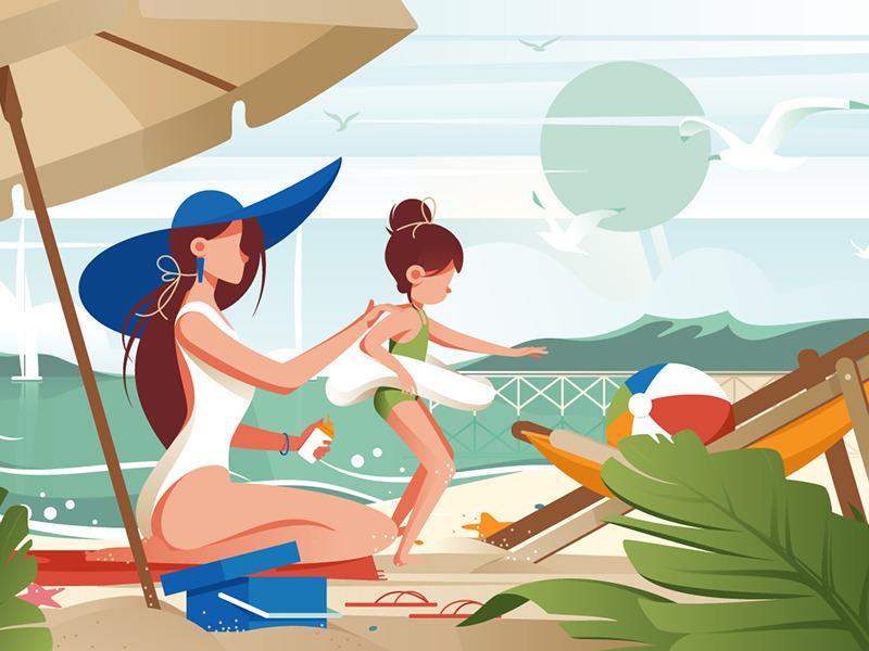 summer illustration art