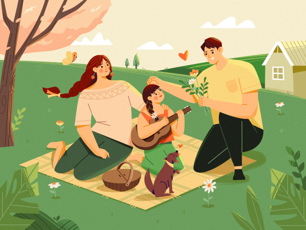 summer picnic illustration
