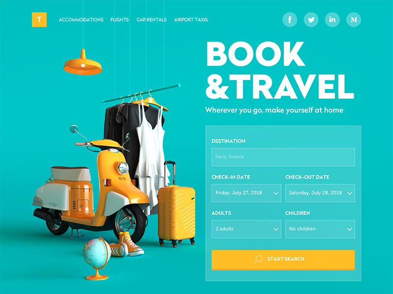 book and travel website_tubik