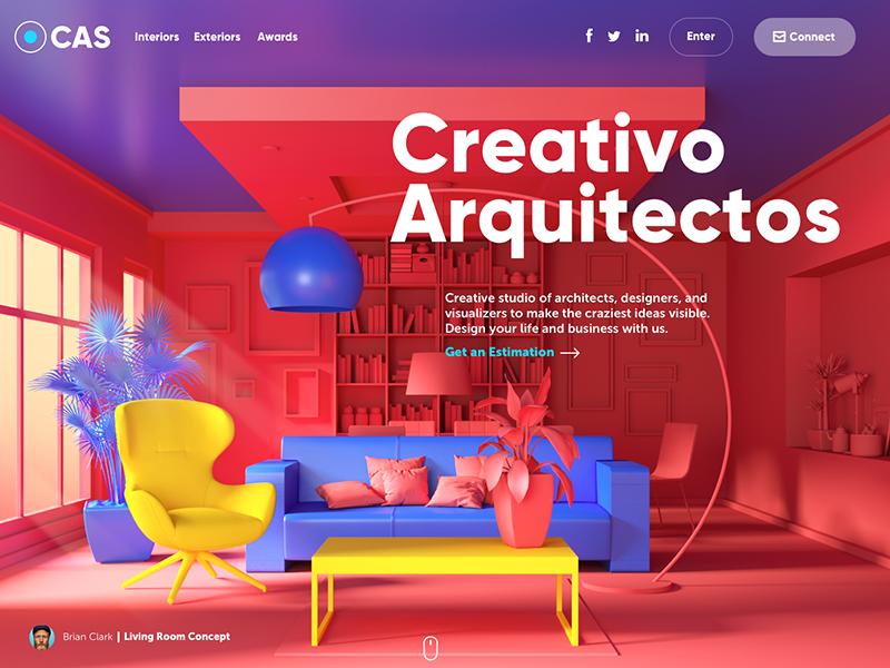 creativo arquitectos website design tubik