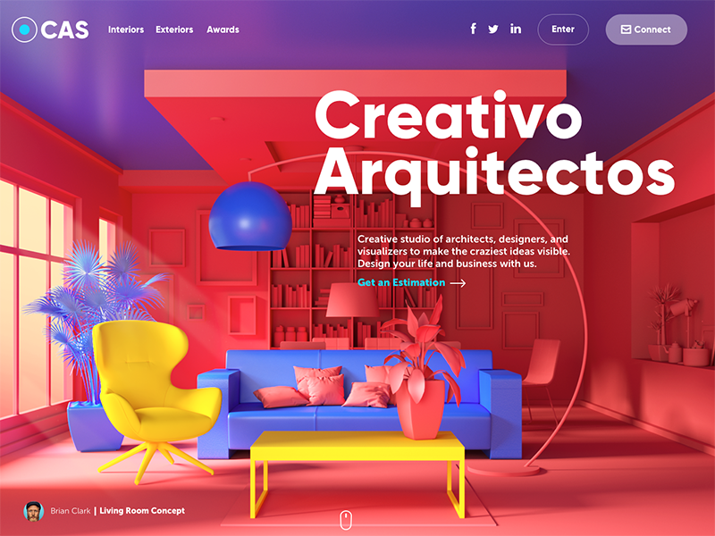 creativo arquitectos website design tubik