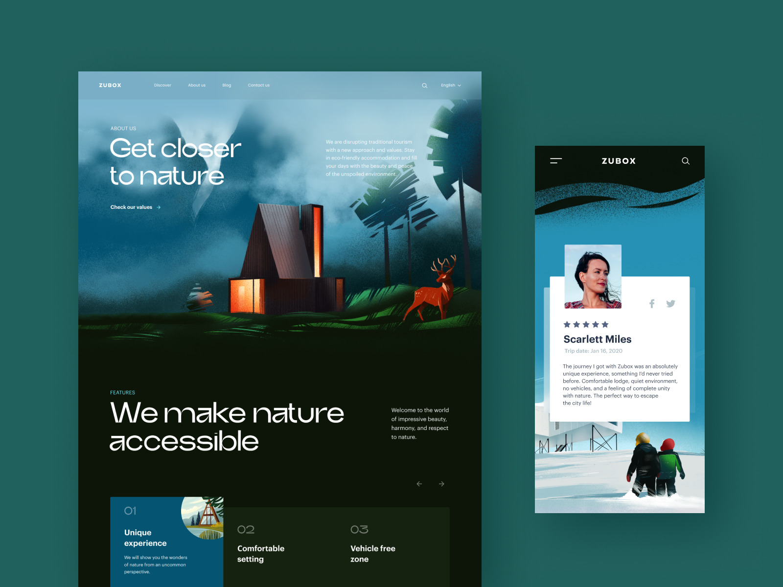 ecotourism website design tubik
