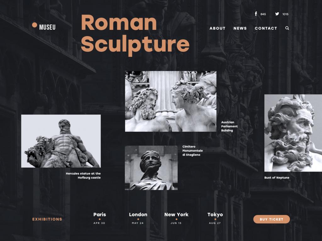 tubik studio museum website