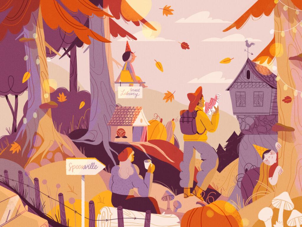 autumn halloween illustration