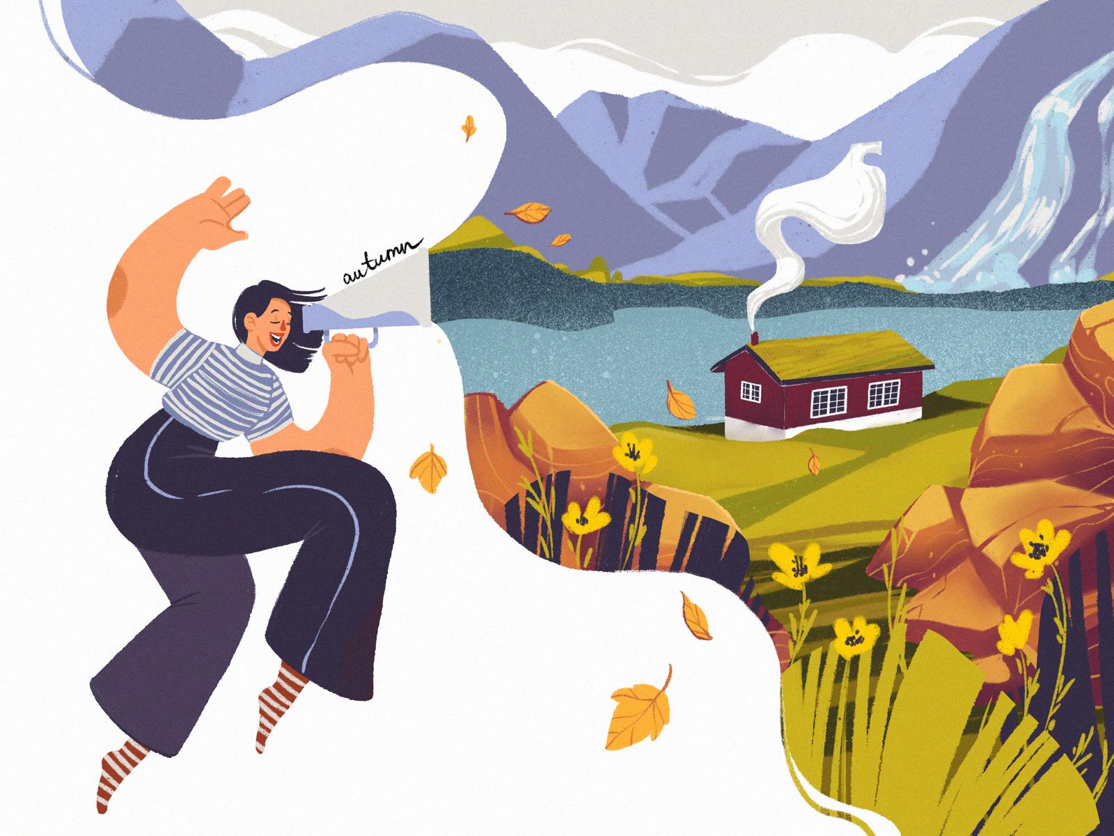 The Colors of Autumn: 30 Digital Illustrations Sharing Fall Mood