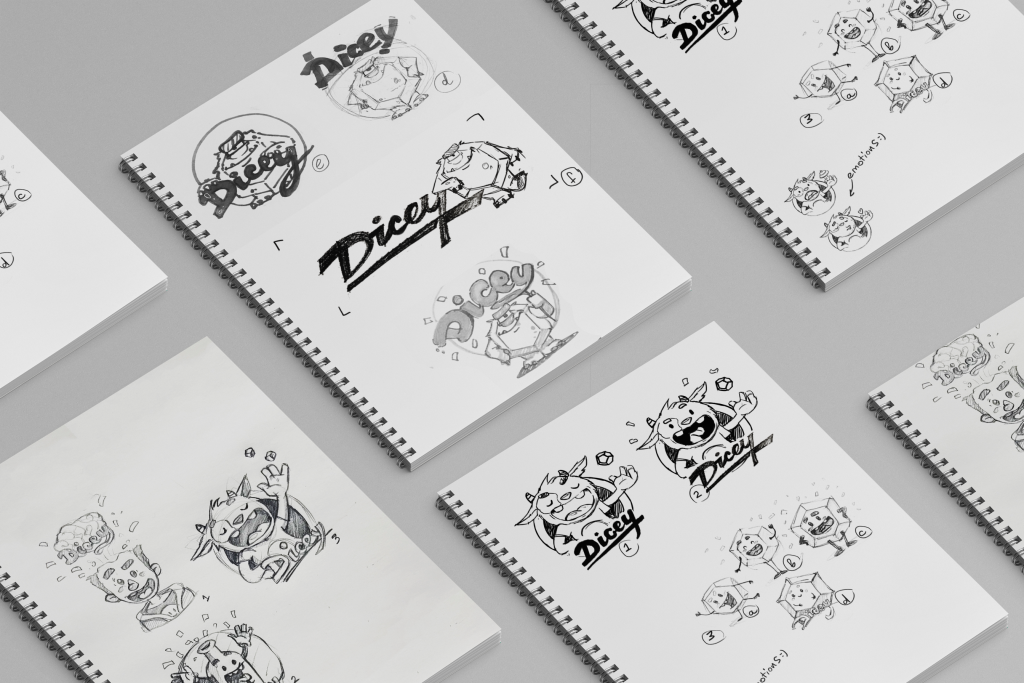 dicey-design-case-study-mascot-sketching