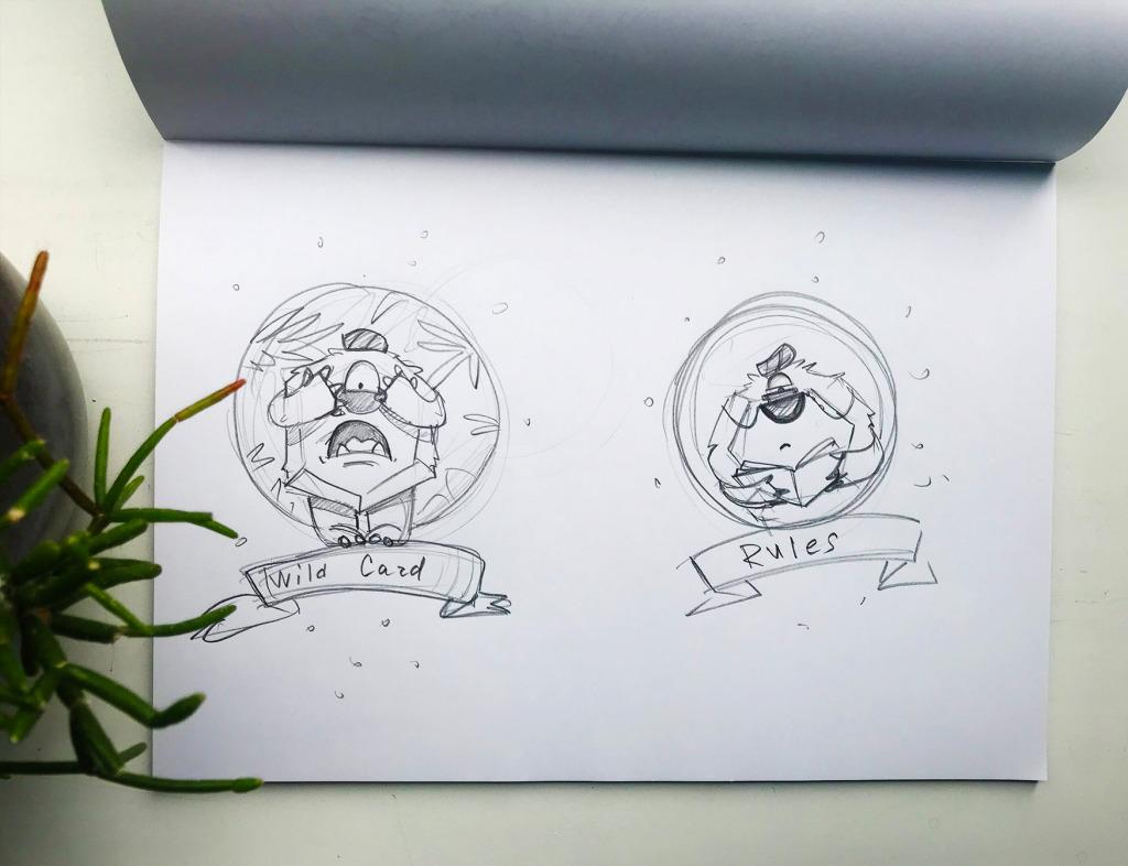 dicey design case study logo mascot