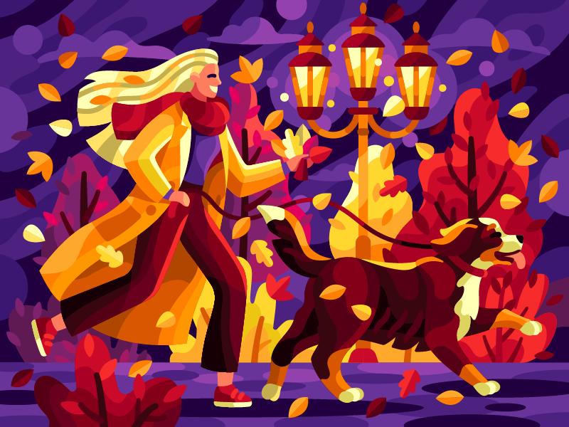 digital illustration autumn