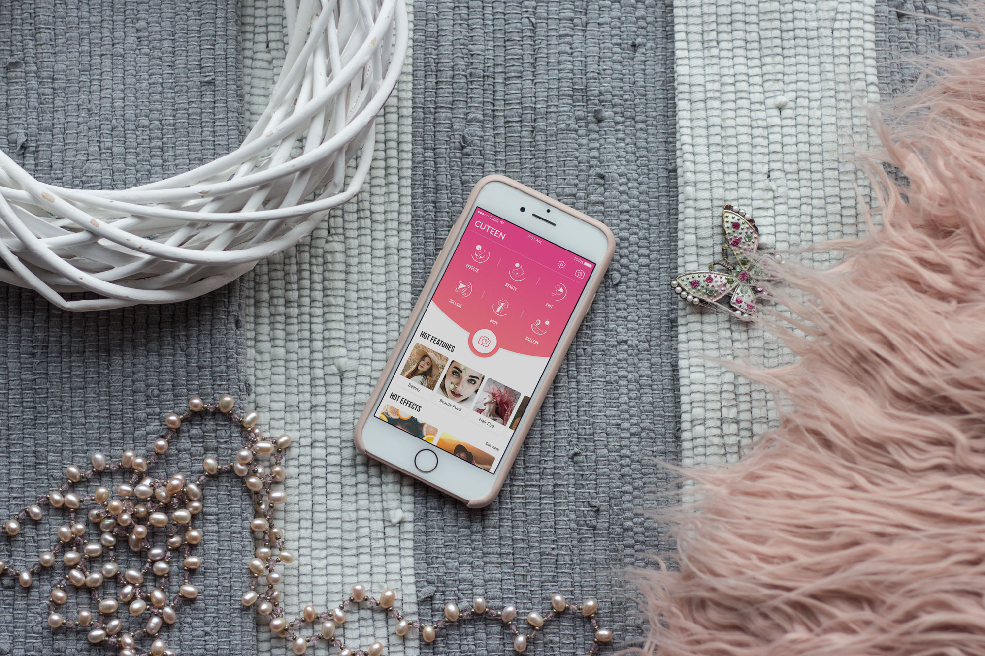 cuteen case study mobile-UI-tubik