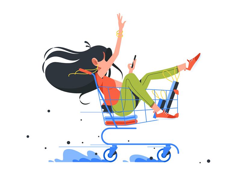illustration shopping cart