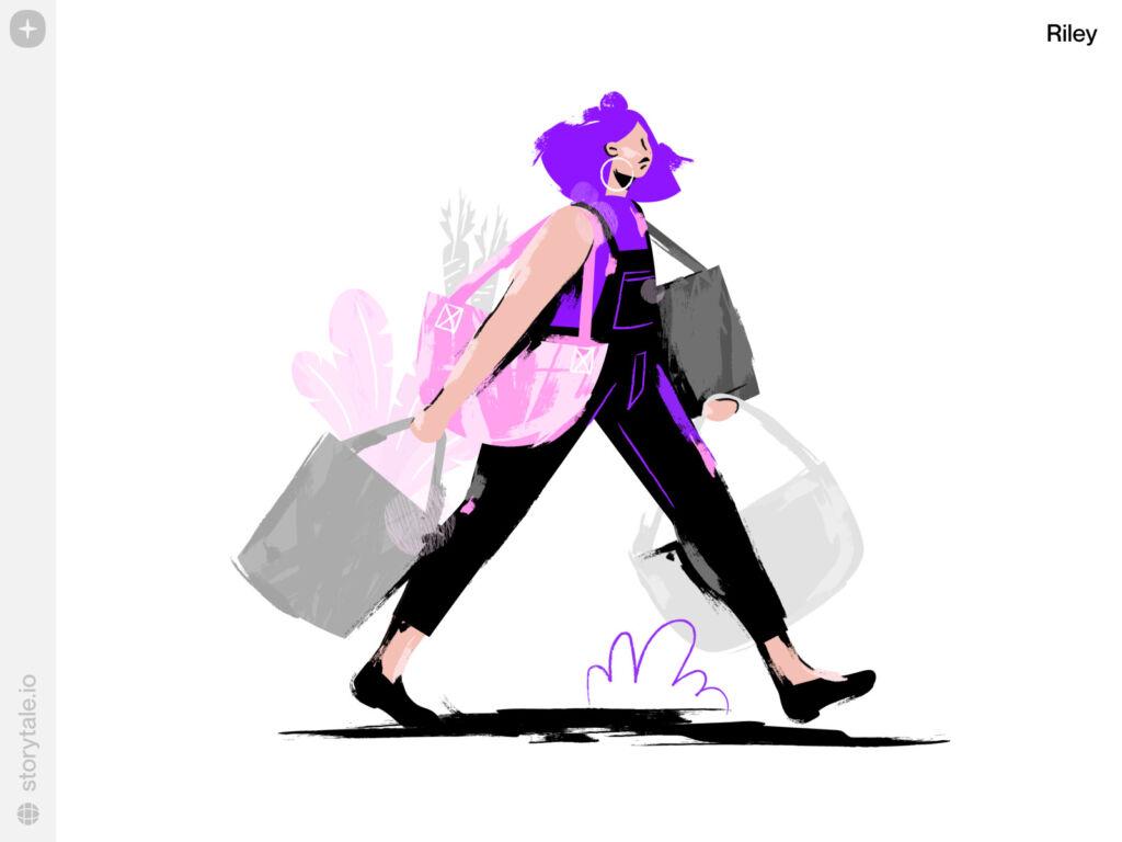 shopper illustration