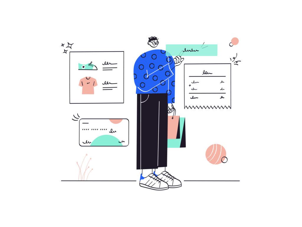 shopping ecommerce illustration