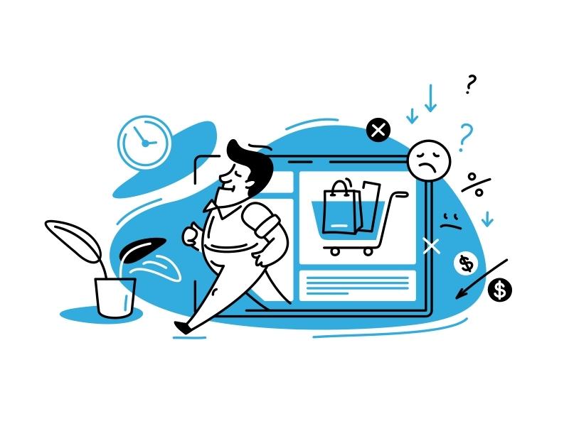 shopping illustration art