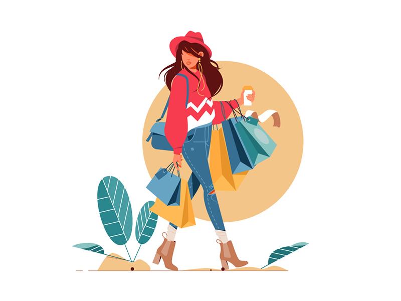 shopping time illustration