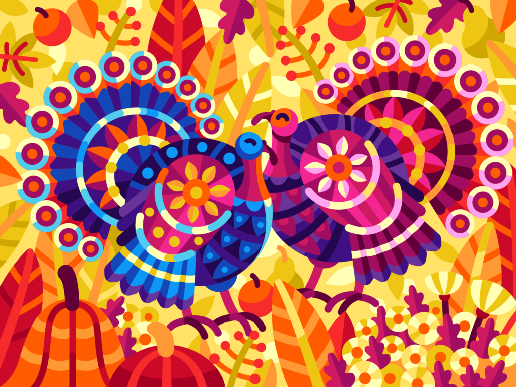 turkeys illustration