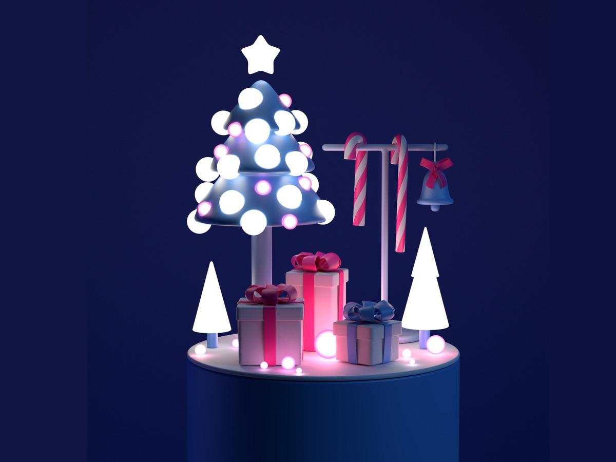 3d christmas art