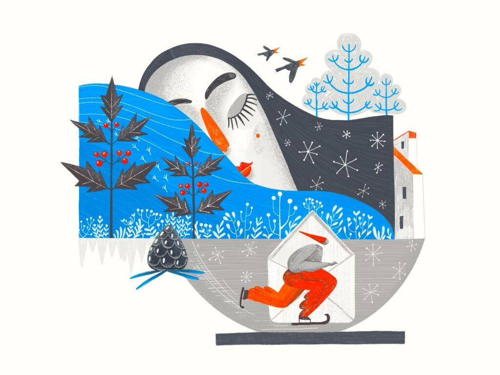 Winter illustration art tubikarts