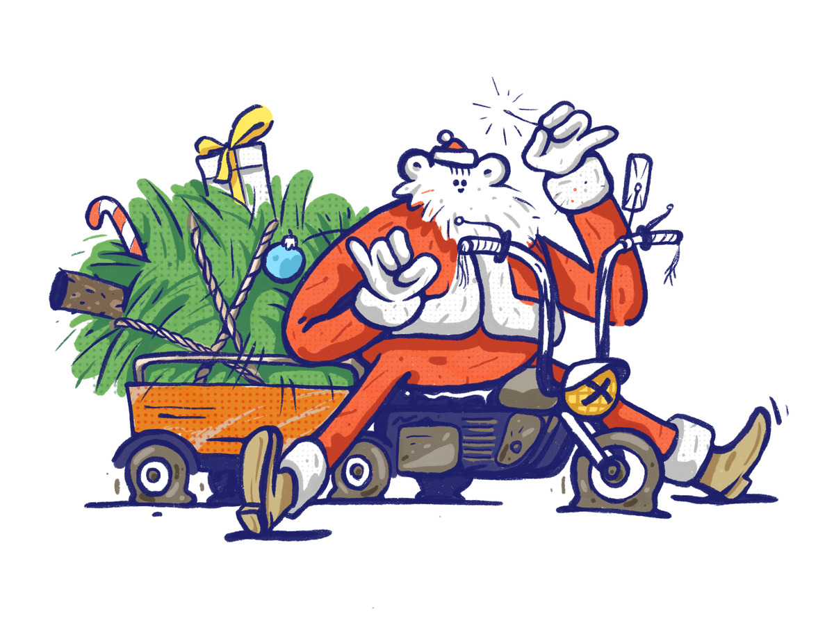 christmas delivery illustration