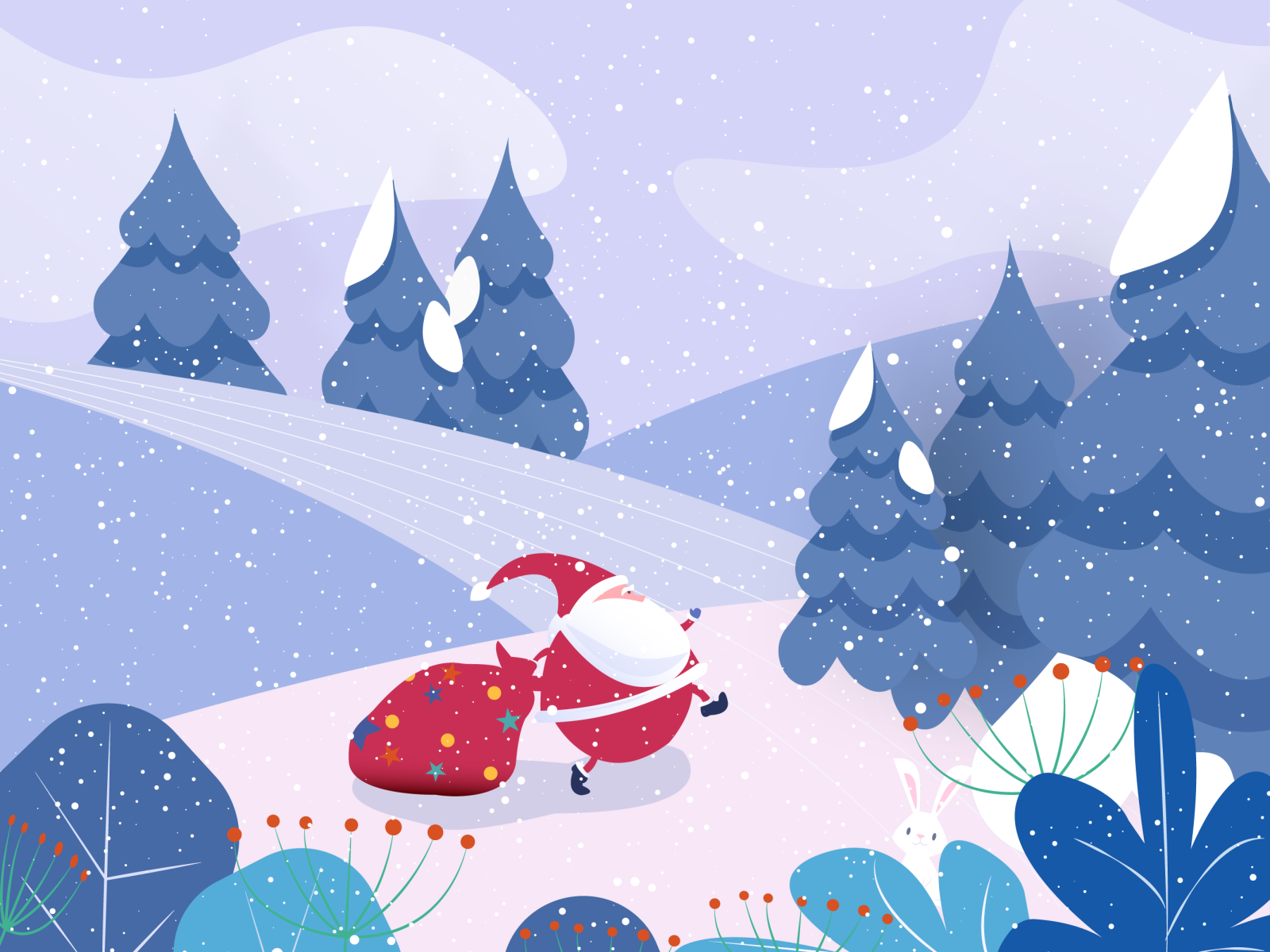 christmas santa illustration