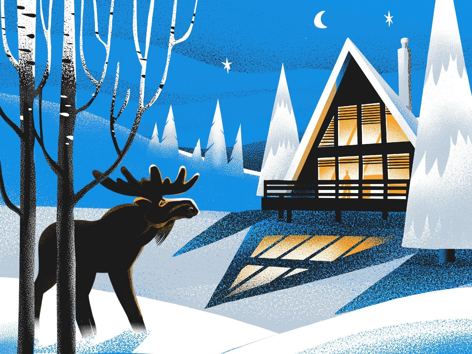 Краса зими: свіжа колекція зимових ілюстрацій