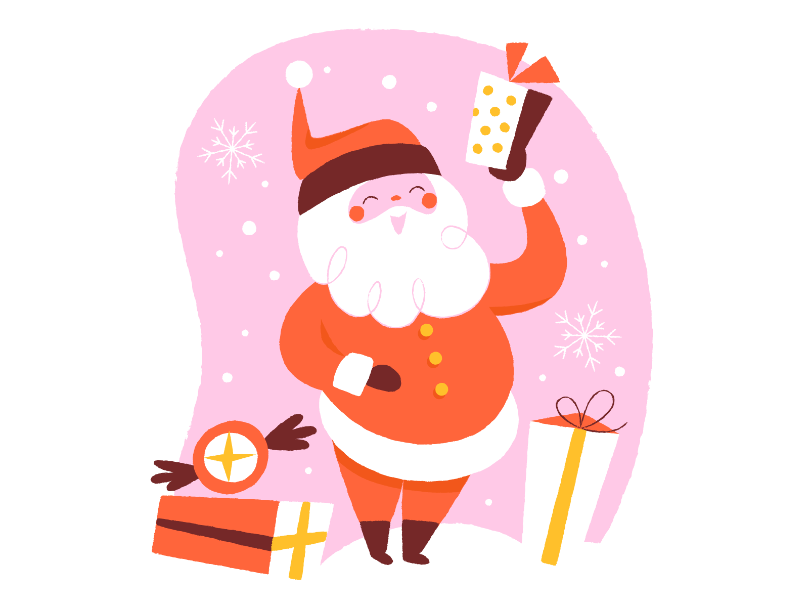 happy santa illustration