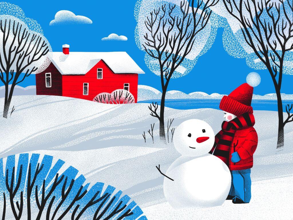 hello winter illustration tubikarts