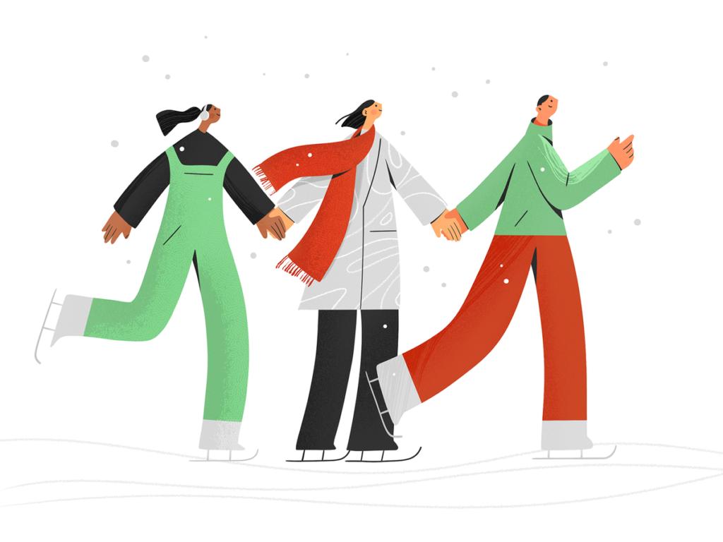skaters illustration