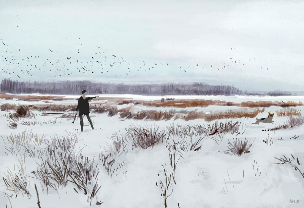 snow by pascal campion winter illustration