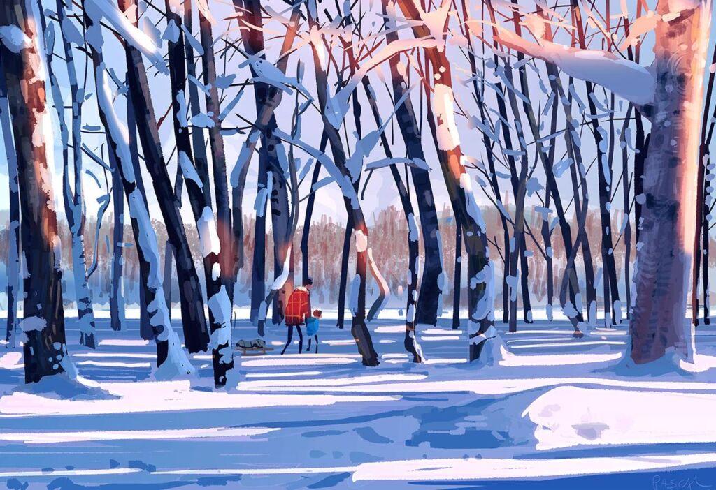 winter illustrations