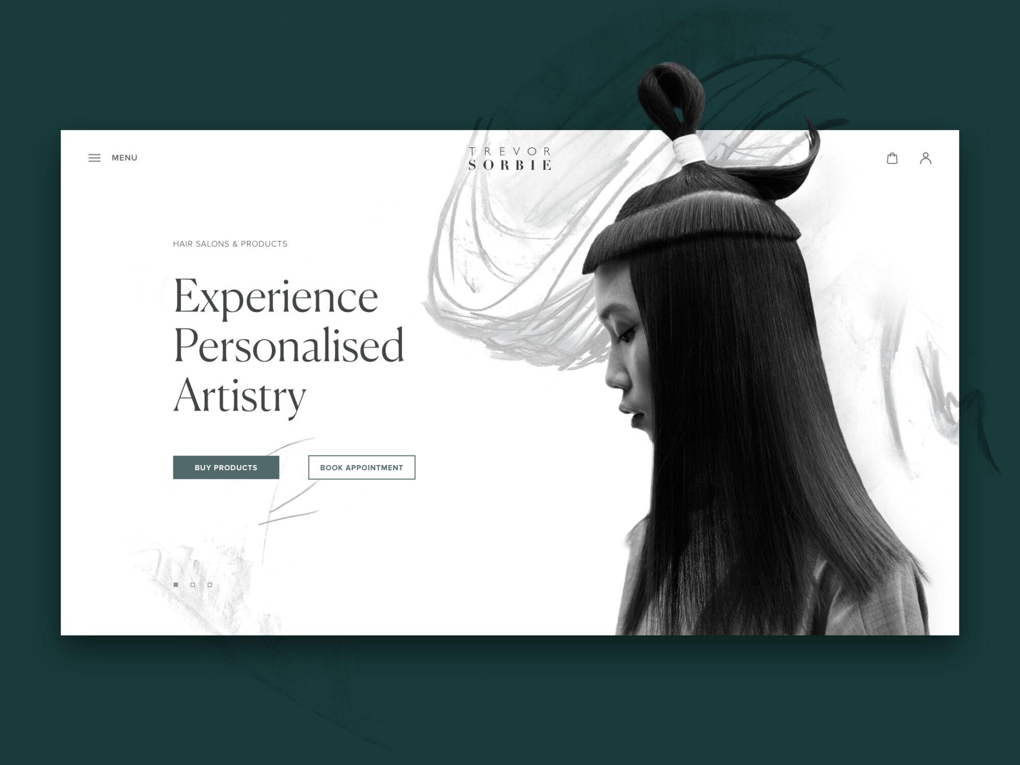 hair beauty website design