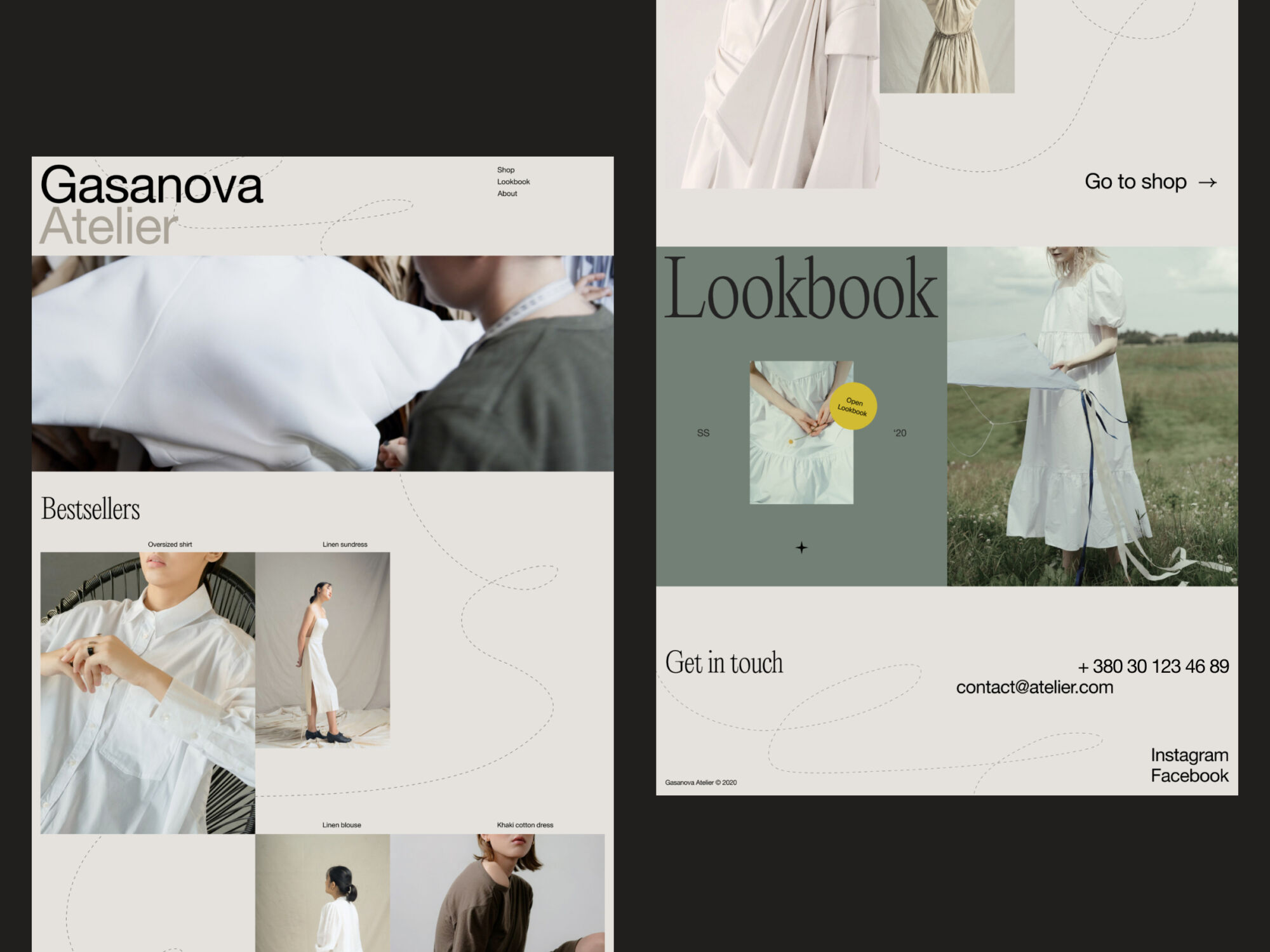fashion brand about page webdesign tubik