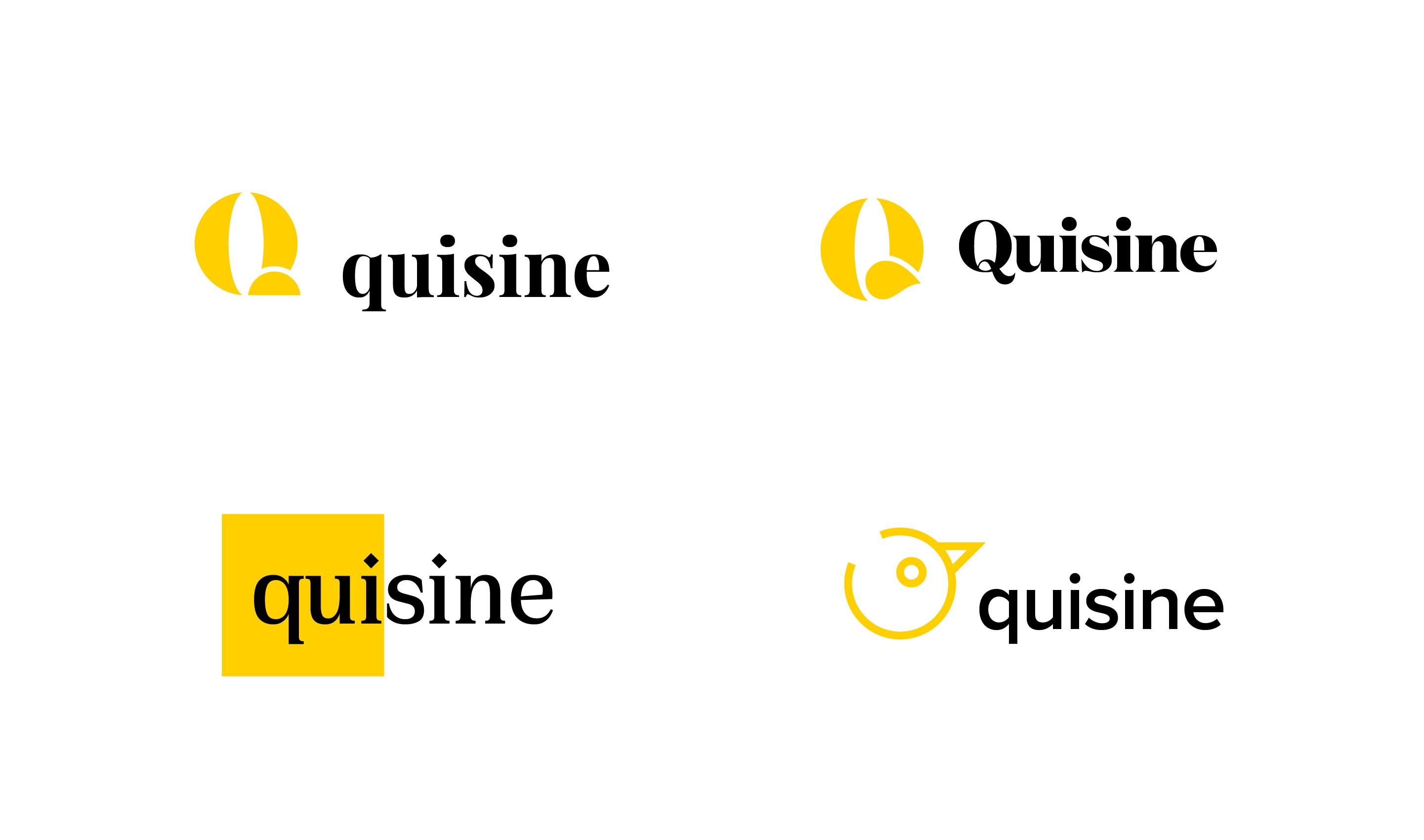 quisine_logo-design-iterations