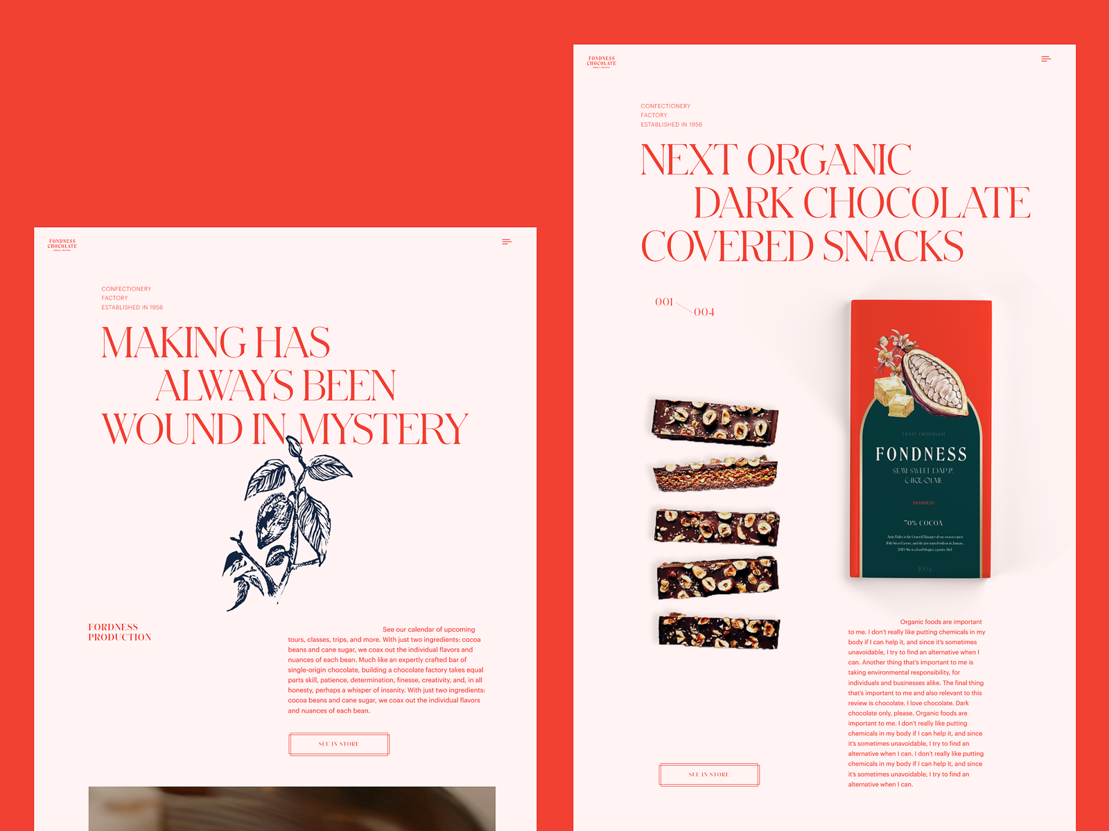 confectionery web design tubik