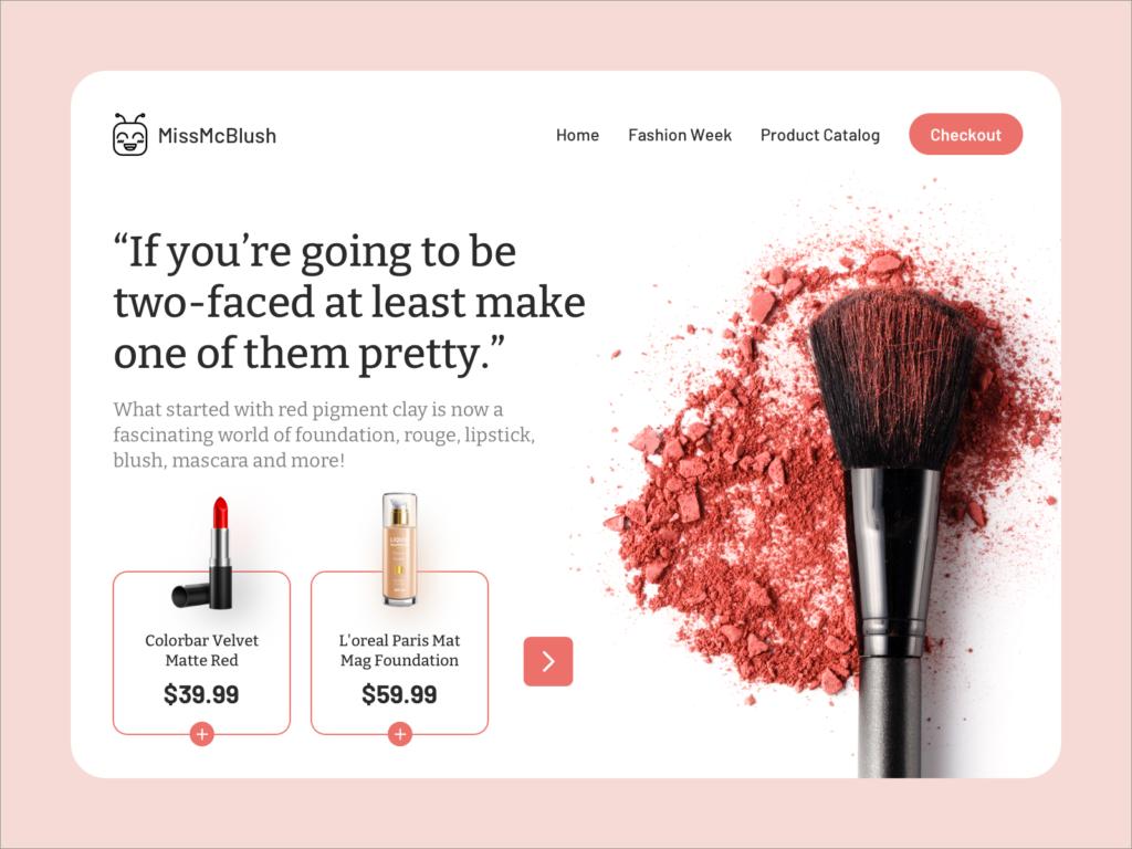 cosmetics store ecommerce