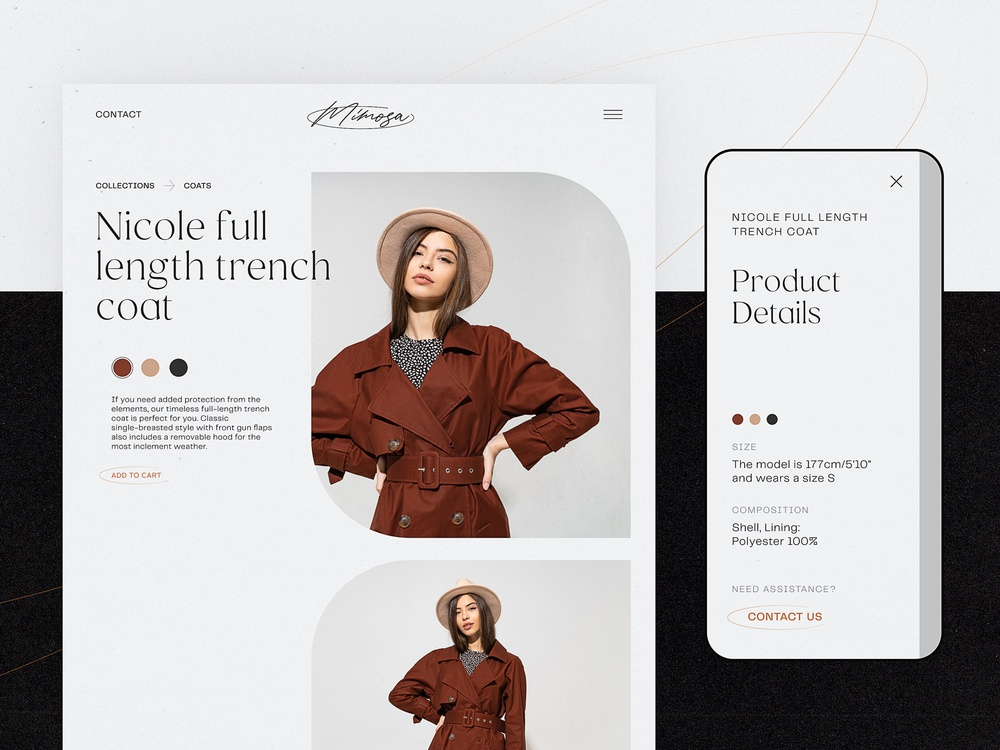ecommerce design clothing brand