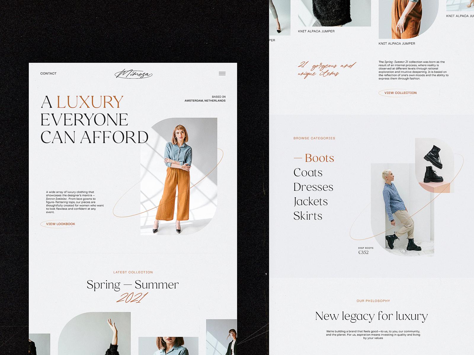 UI Inspiration: 20+ Web Design Concepts for E-Commerce
