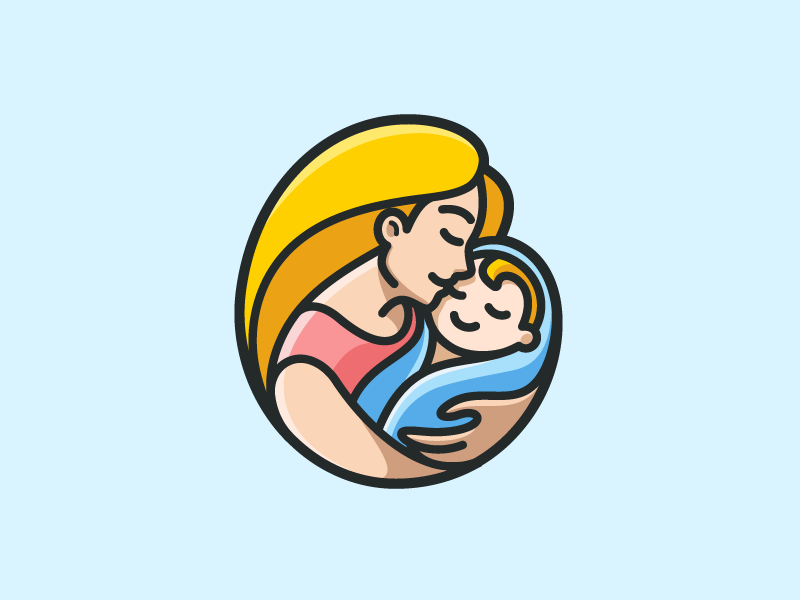 mother baby illustration