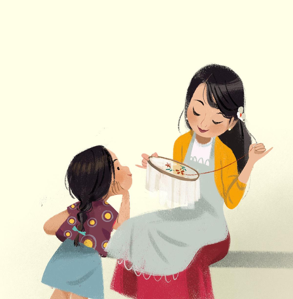 mother kid
