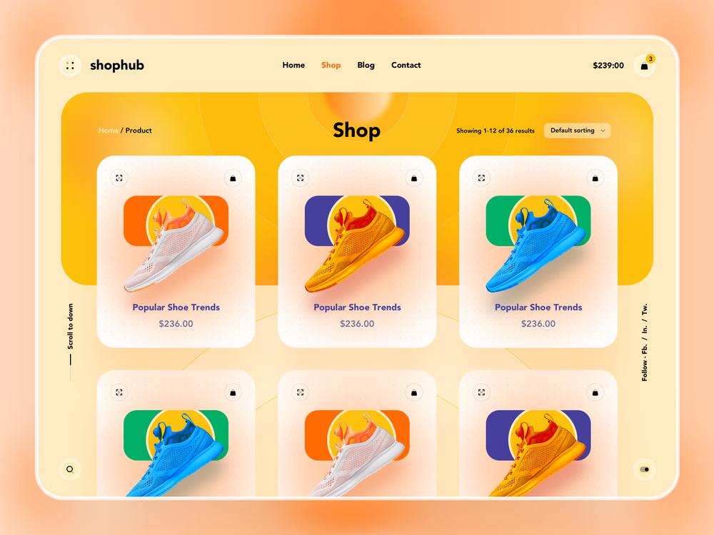 shoes ecommerce website