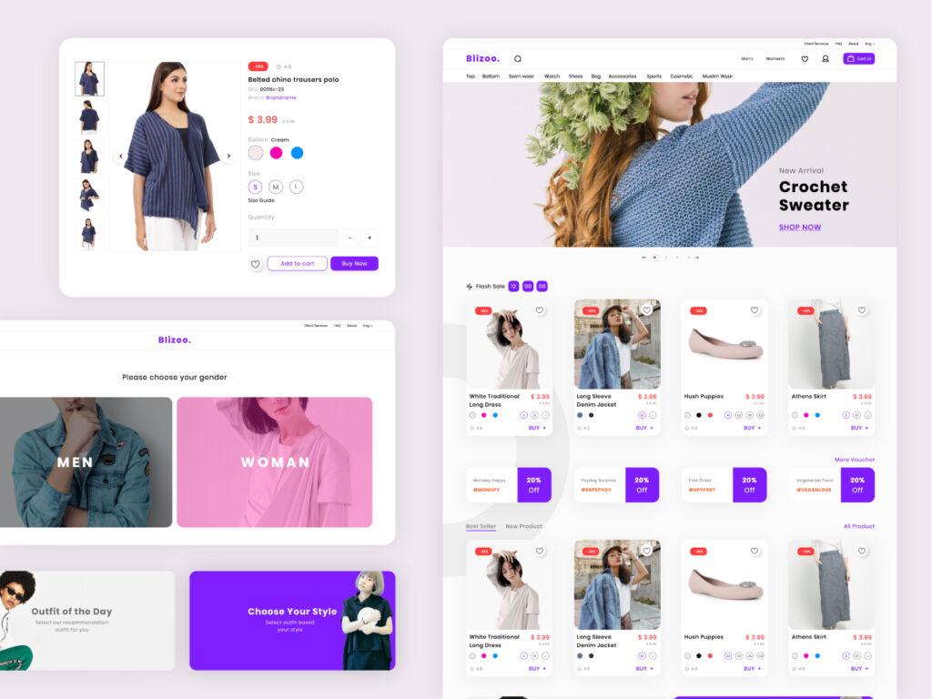 ecommerce web design concept