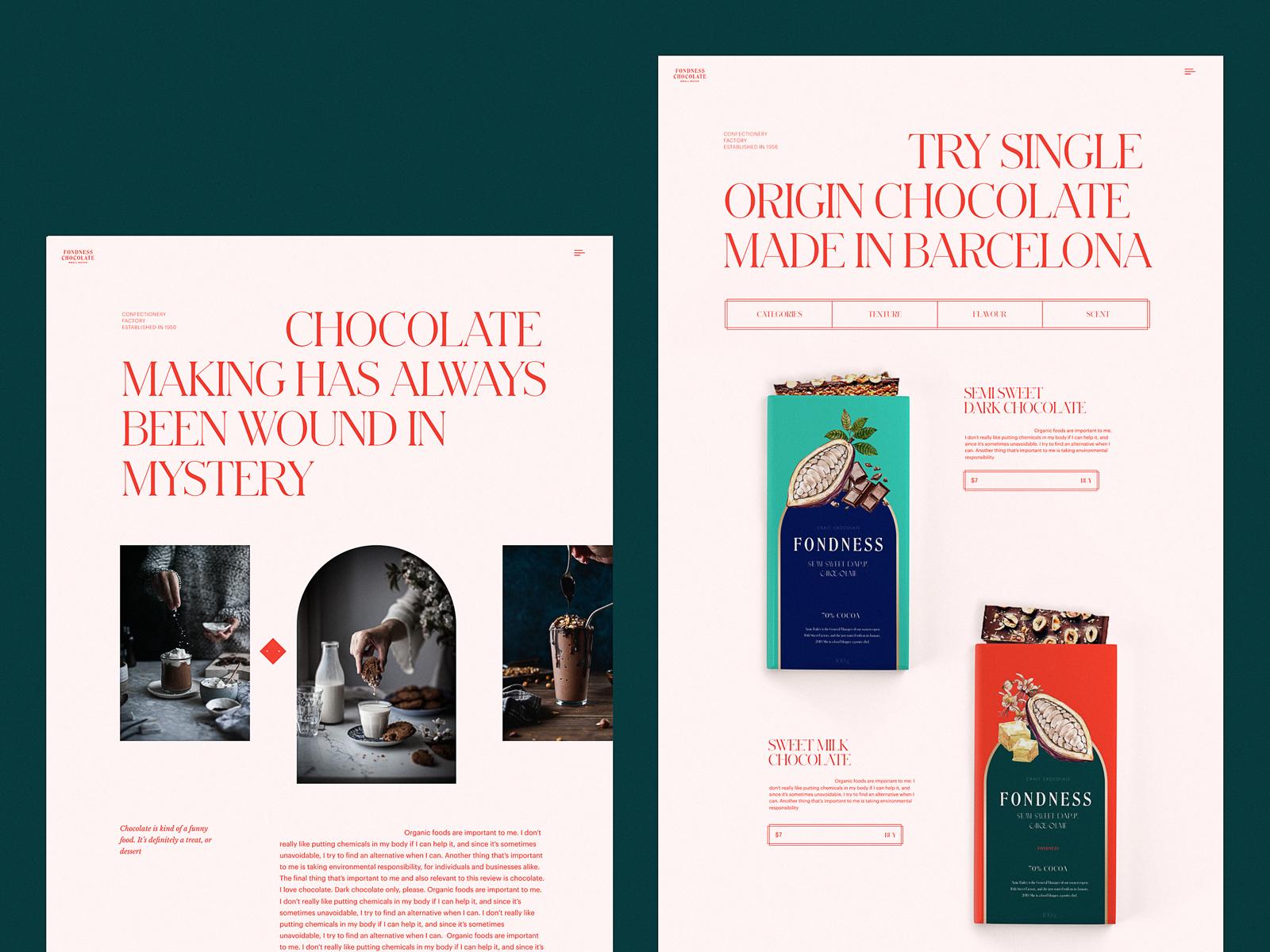 website design confectionery