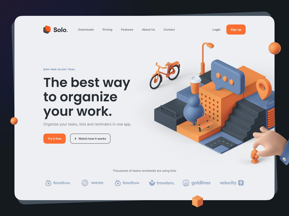 3d illustration webdesign
