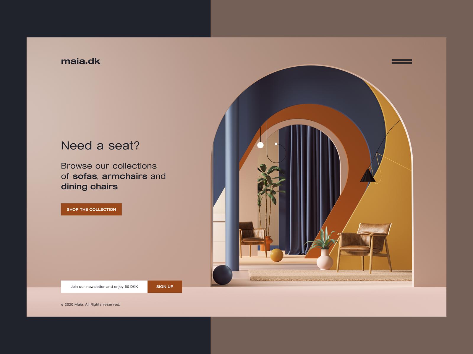 3d illustration web design