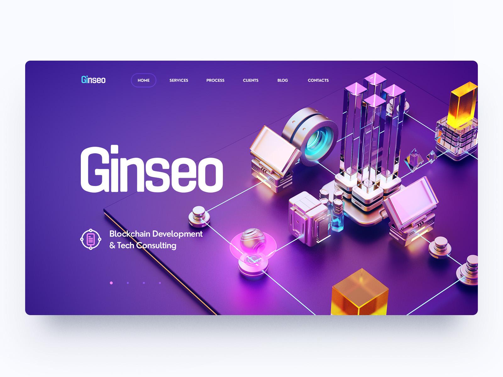 website design ui 3d