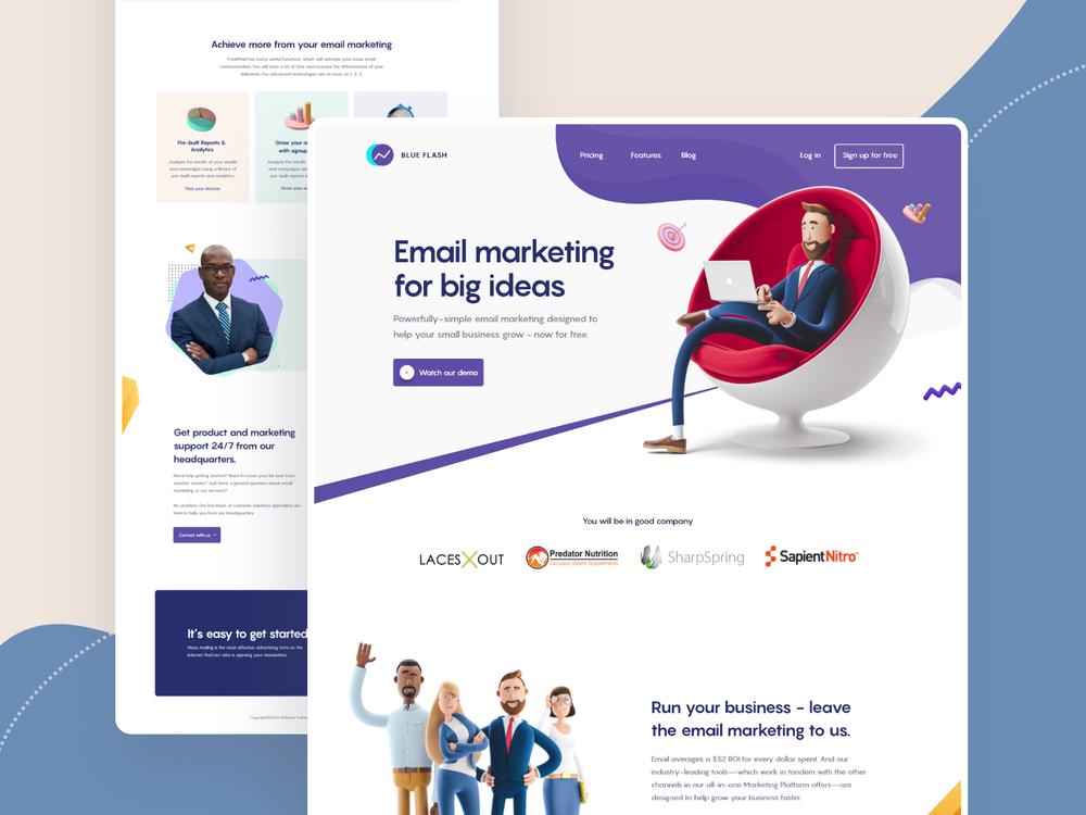 website 3d design