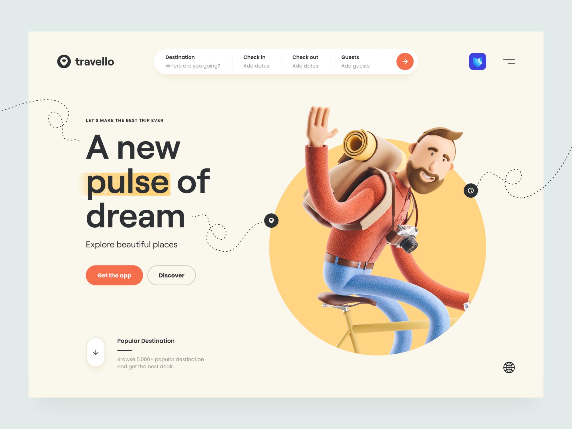 website design 3d arts