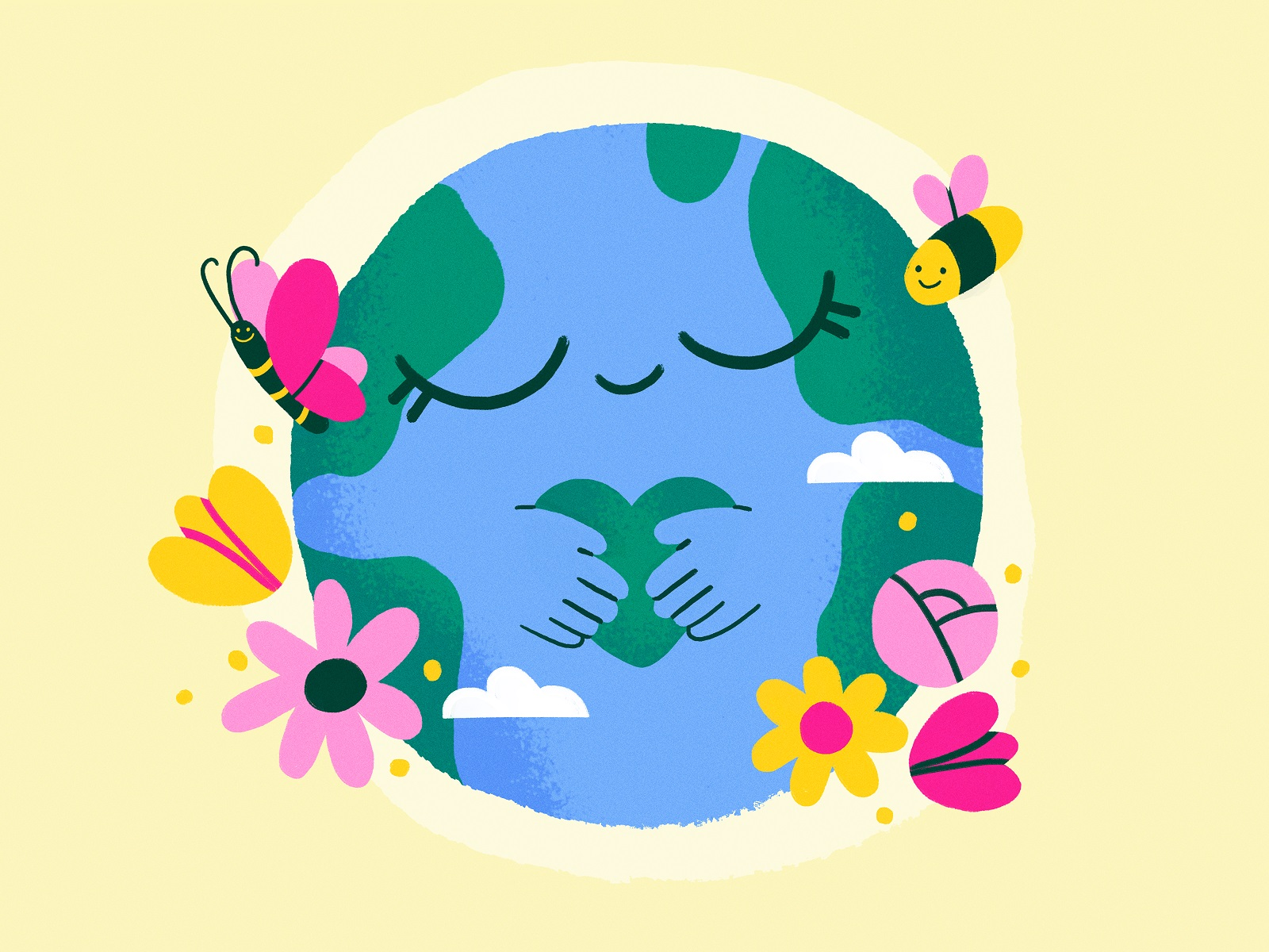 world earth day illustrations