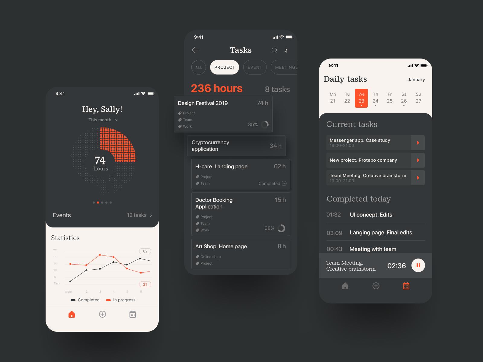 task tracker design tubik
